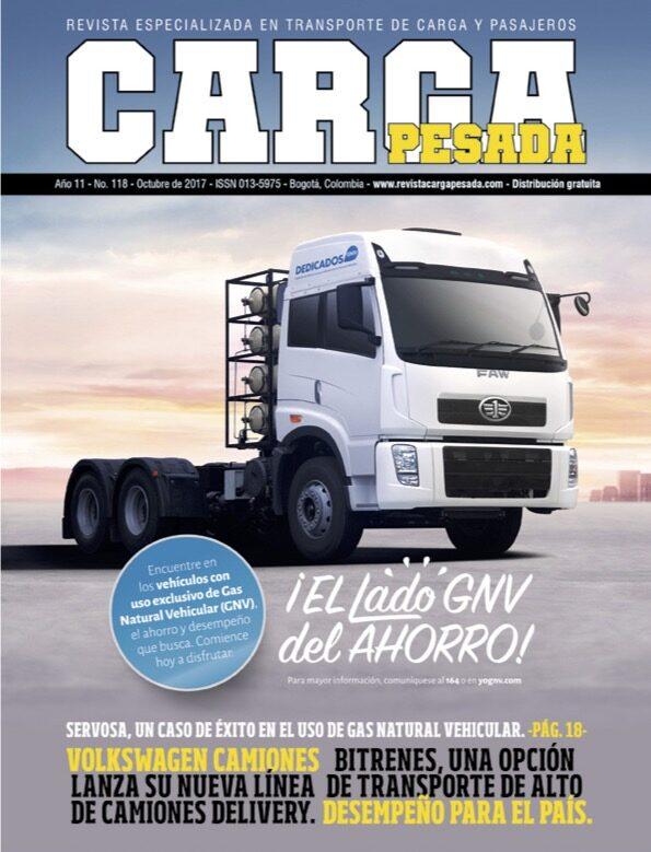 Revista Carga Pesada Edición 118 octubre 2017