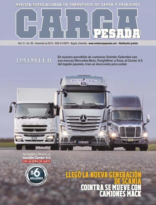 Revista carga pesada Edición 130 Noviembre 2018