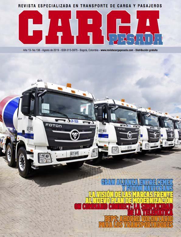 Revista Carga Pesada Edición 138 Agosto 2019