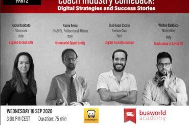 Nuevo webinar Busworld para la industria de pasajeros