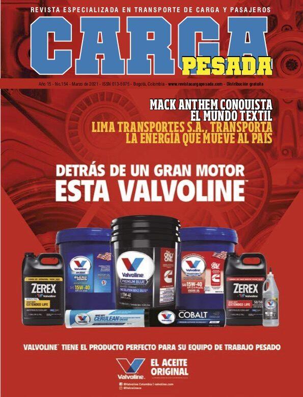 Revista Carga Pesada Edición 154 Marzo 2021