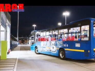 Estado de buses de TransMilenio tras protestas